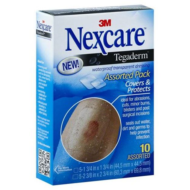 Picture of 3M Nexcare - Tegaderm Waterproof Transparent Dressing (Assorted Pack)