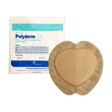 Picture of DeRoyal Polyderm GTL - Silicone Foam Sacral Dressing with Border