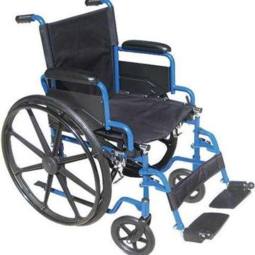 """Picture of Drive Medical Blue Streak - Single Axle Manual 18"""" Wheelchair"""