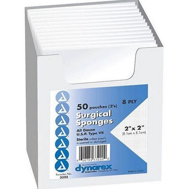 Picture of Dynarex - General Use Sterile Gauze Sponges
