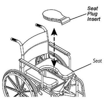 Picture of Invacare - Seat Plug Insert for Rehab Shower/Commode Chair