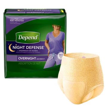 Picture of Depend Night Defense - Underwear for Women, Overnight