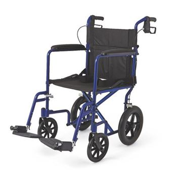 "Picture of Medline - Aluminum Transport Chair (12"" Wheels)"