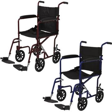 "Picture of Medline - Aluminum Transport Chair (8"" Wheels)"