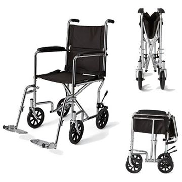 Picture of Medline - Steel Transport Wheelchair