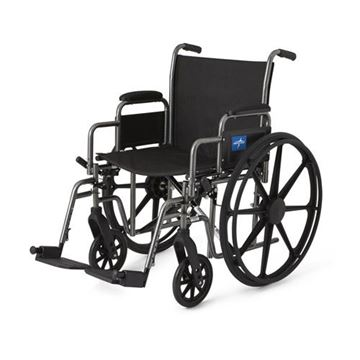 Picture of Medline Excel - K1 Basic Extra-Wide Wheelchair (Desk-Length Armrest)