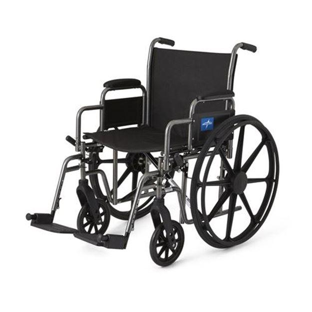 Picture of Medline Excel - K1 Basic Extra-Wide Wheelchair (Desk-Length Armrest)