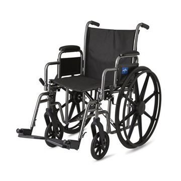 Picture of Medline Excel - K1 Basic Wheelchair (Desk-Length Armrest)
