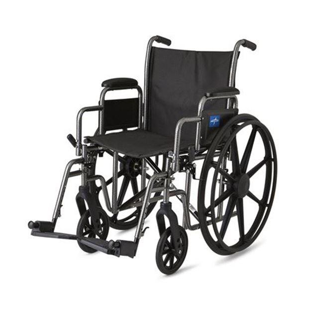 Picture of Medline Excel - K1 Basic Wheelchair (Desk-Length Armrest)