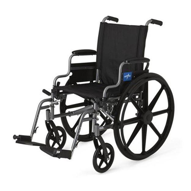 Picture of Medline K4 - Extra-Wide Lightweight Wheelchair (Swing Back Desk-Length Armrest)