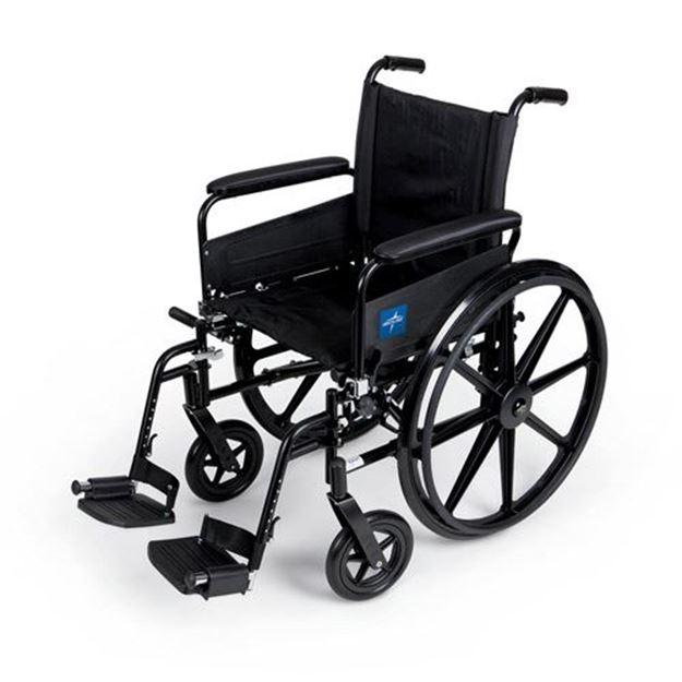Picture of Medline K4 - Lightweight Wheelchair (Swing Back Full Length Armrest)