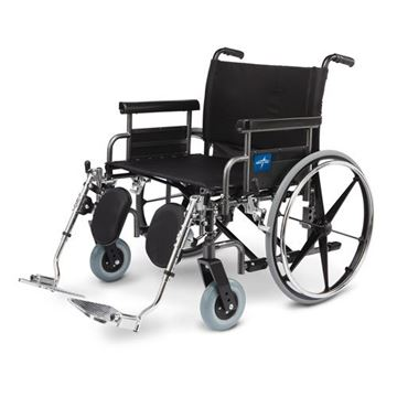 Picture of Medline Shuttle - Extra-Wide Wheelchair (Desk-Length Armrest)
