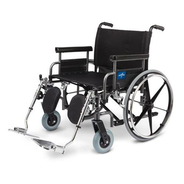 Picture of Medline Shuttle - Extra-Wide Wheelchair (Desk-Length Armrest)