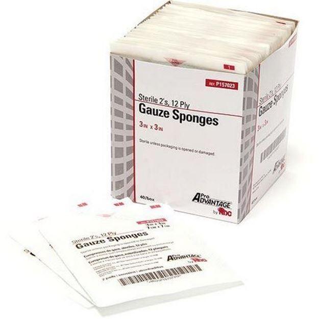 Picture of ProAdvantage - Sterile Cotton Gauze Sponges (12 ply)