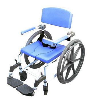 """Picture of Healthline EZee Life - Shower Commode Chair with 24"""" Rear Wheels"""
