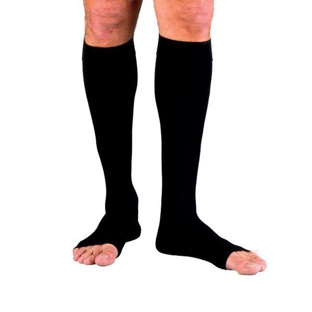 Picture of Jobst forMen - Men's Knee High 20-30mmHg Compression Support Socks (Open Toe)
