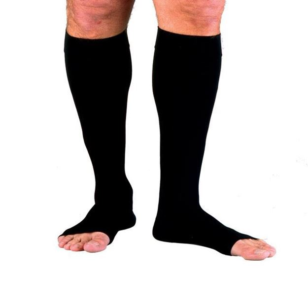 Picture of Jobst forMen - Men's Knee High 30-40mmHg Compression Support Socks (Open Toe)