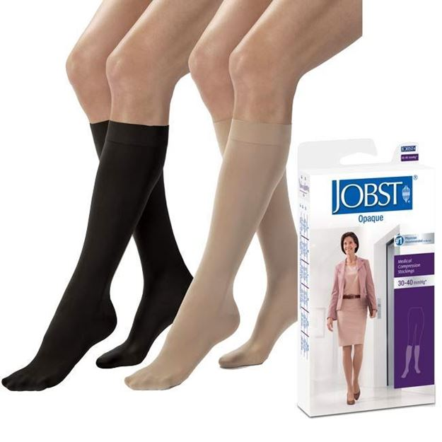 Picture of Jobst Opaque - Women's Knee High 30-40mmHg Compression Support Stockings