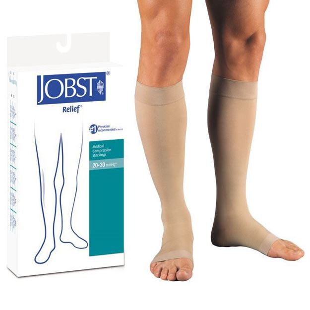 Picture of Jobst Relief - Knee High 20-30mmHg Compression Support Stockings (Open Toe)