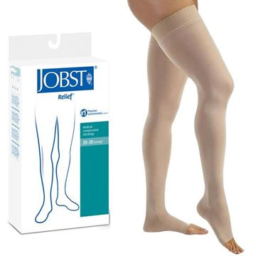 Picture of Jobst Relief - Thigh High 20-30mmHg Compression Support Stockings (Open Toe)