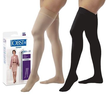 Picture of Jobst Opaque - Women's Thigh High 30-40mmHg Compression Support Stockings