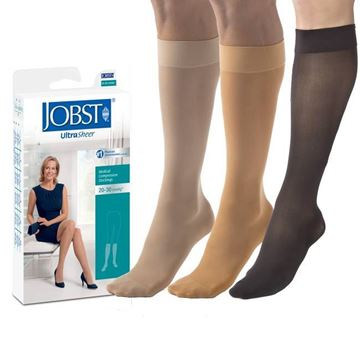Picture of Jobst UltraSheer - Women's Knee High 20-30mmHg Compression Support Stockings