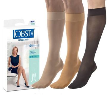 Picture of Jobst UltraSheer - Women's Knee High 8-15mmHg Compression Support Stockings