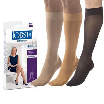 Picture of Jobst UltraSheer - Women's Knee High 30-40mmHg Compression Support Stockings