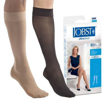 Picture of Jobst UltraSheer - Women's Petite Knee High 15-20mmHg Compression Support Stockings