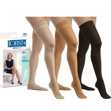 Picture of Jobst UltraSheer - Women's Thigh High 8-15mmHg Compression Support Stockings