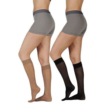 Picture of Juzo Attractive OTC - Women's 15-20mmHg Support/Compression Stockings (Knee High)