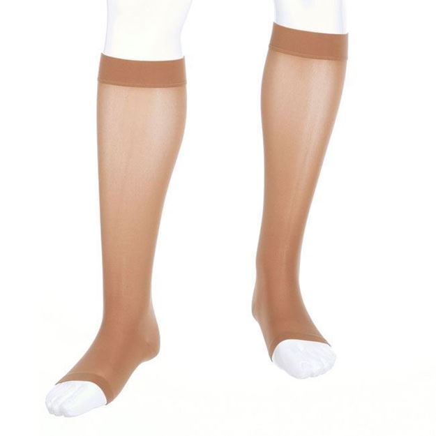 Picture of Mediven Assure - Knee High 15-20mmHg Compression Stocking (Silicone Band/Regular Calf/Open Toe)
