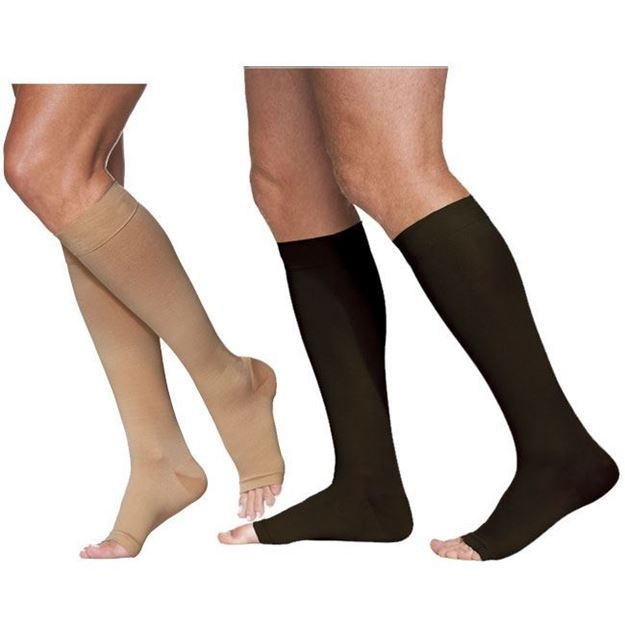 Picture of Sigvaris Dynaven Medical Legwear - Calf 20-30mmHg Compression Support Socks (Open Toe)