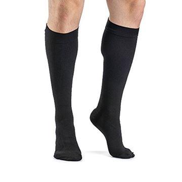 Picture of Sigvaris Dynaven Medical Legwear - Men's Ribbed Calf 20-30mmHg Compression Support Socks