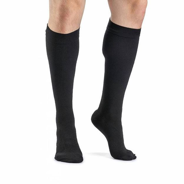 Picture of Sigvaris Dynaven Medical Legwear - Men's Ribbed Calf 30-40mmHg Compression Support Socks