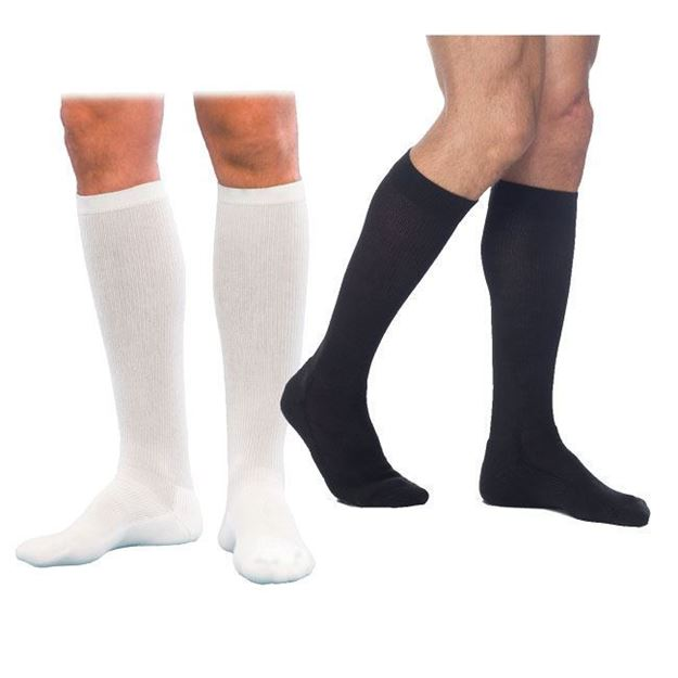 Picture of Sigvaris Athletic Cotton - Men's 15-20mmHg Compression Support Socks