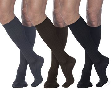 Picture of Sigvaris Business Casual - Men's 15-20mmHg Compression Support Dress Socks