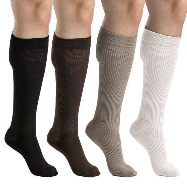 Picture of Sigvaris Casual Cotton - Men's 15-20mmHg Compression Support Socks