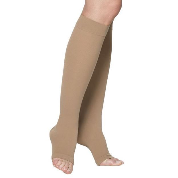 Picture of Sigvaris Cotton Ribbed - Calf 20-30mmHg Unisex Compression Support Socks (Open Toe)