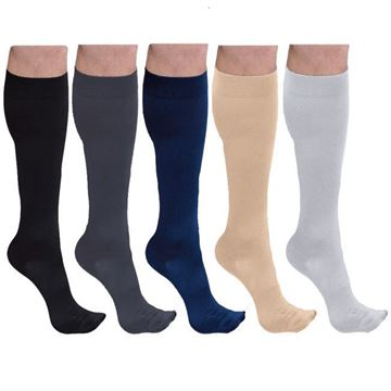 Picture of Sigvaris Cotton Ribbed - Men's 30-40mmHg Compression Support Socks