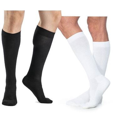 Picture of Sigvaris Cushioned Cotton - Men's Calf 20-30mmHg Compression Support Socks