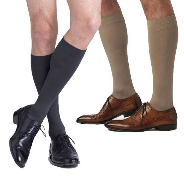 Picture of Sigvaris Microfiber - Men's Calf 20-30mmHg Compression Support Socks