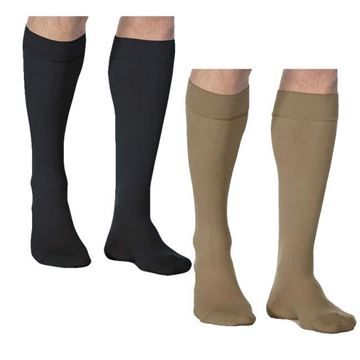 Picture of Sigvaris Microfiber - Men's Calf 30-40mmHg Compression Support Socks (Grip Top)