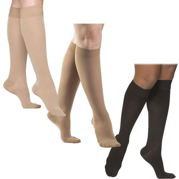 Picture of Sigvaris Opaque - Women's Calf 20-30mmHg Compression Support Socks