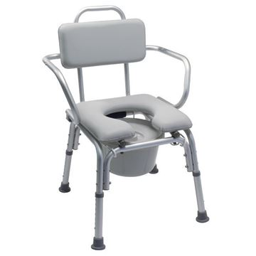 Picture of Graham-Field Lumex - Deluxe Padded Commode Chair with Support Arms