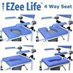 """Picture of Healthline EZee Life - Shower Commode Chair with 5"""" Casters"""