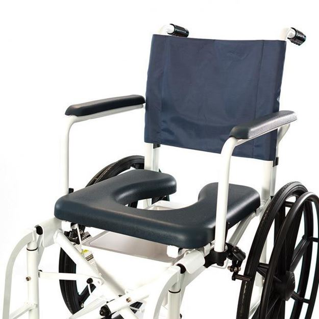 """Picture of Invacare Mariner Rehab - Shower Commode Chair with 23"""" Wheels"""