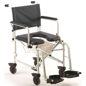 "Picture of Invacare Mariner Rehab - Shower Commode Chair with 5"" Casters"