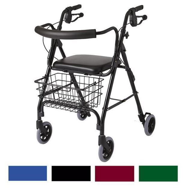 "Picture of Medline Guardian - 6"" Wheel Deluxe Rollator"