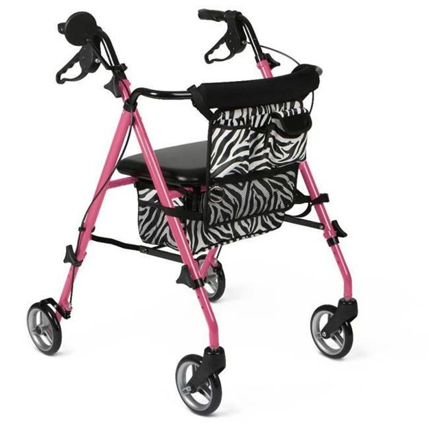 Picture of Medline Guardian - Posh Pink Zebra Rollator